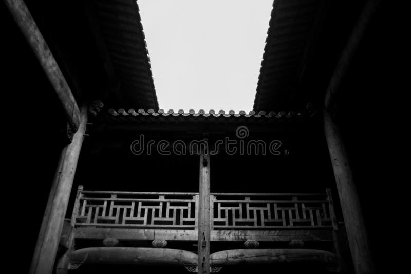 Vieilles maisons en Chine photos stock
