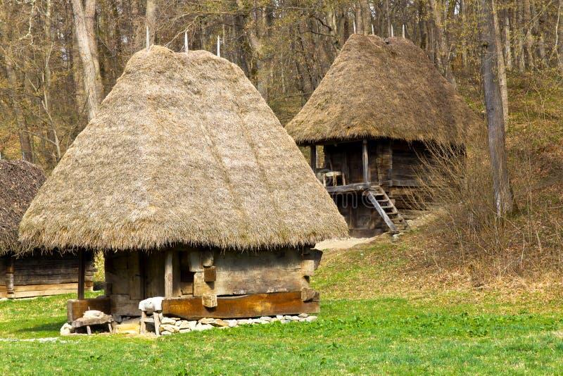 Maisons rurales antiques photographie stock