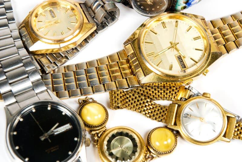 Vieilles montres-bracelet image libre de droits