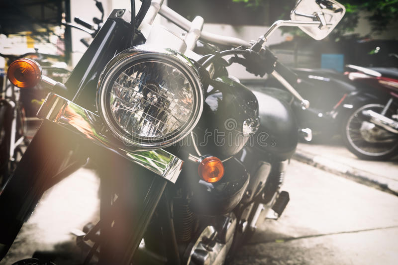 Vieilles motos classiques photographie stock libre de droits