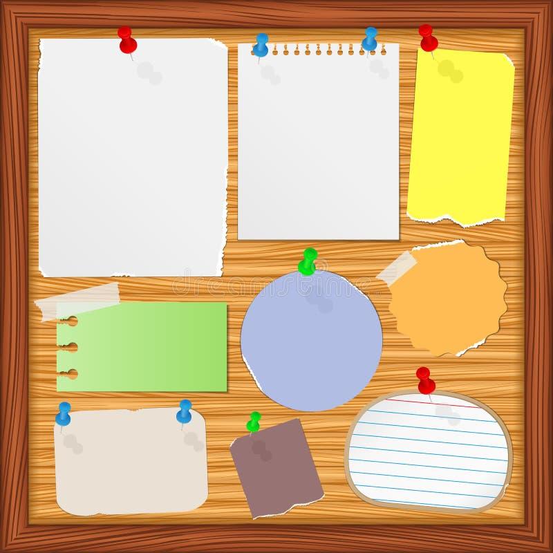 Vieilles notes de papier illustration de vecteur