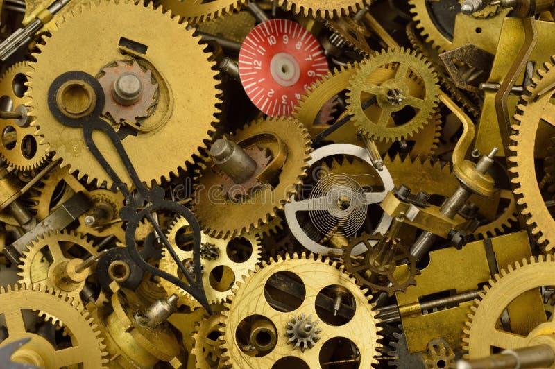 Vieilles pièces d'horloge photo stock