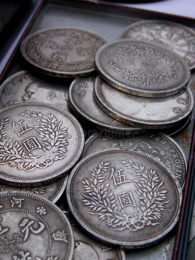 Vieilles pièces de monnaie japonaises photos libres de droits