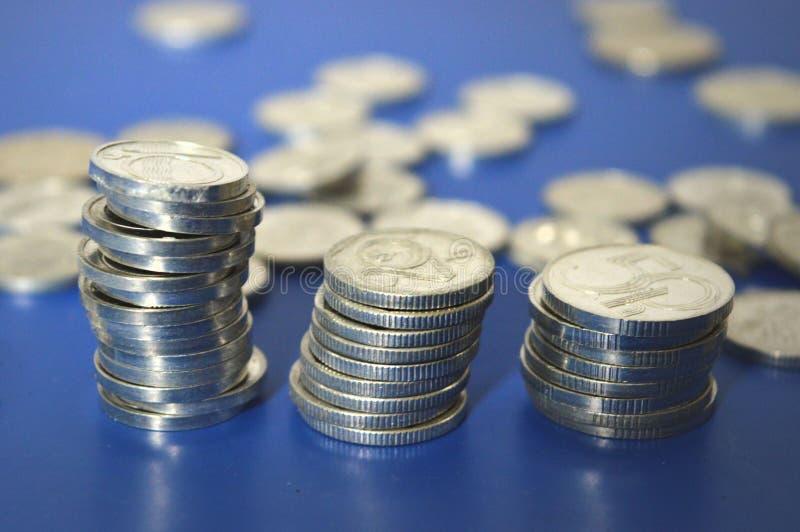 Vieilles pièces en argent image libre de droits