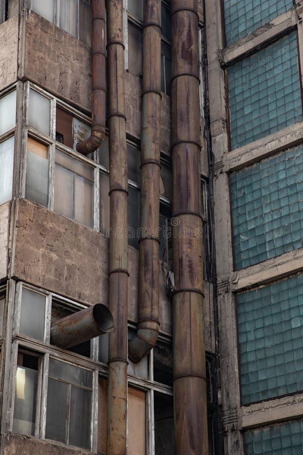 Vieilles pipes rouillées image libre de droits