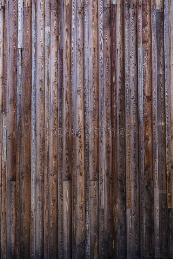 Vieilles planches superficielles par les agents en dehors de façade images libres de droits