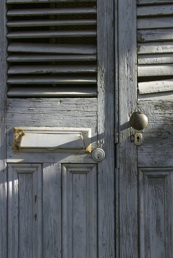 Vieilles portes à la Nouvelle-Orléans photographie stock