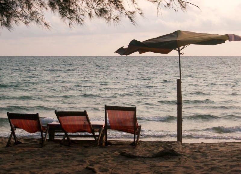 Vieilles présidences de plage image libre de droits