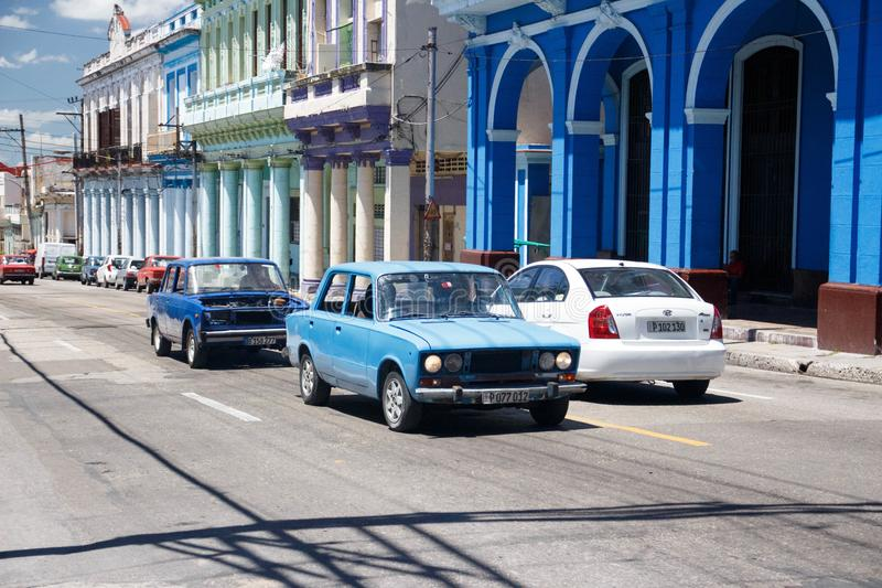 Vieilles rétros voitures américaines classiques à La Havane, Cuba -3 image stock