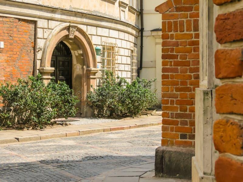 Vieilles rues de la vieille ville, Varsovie images stock