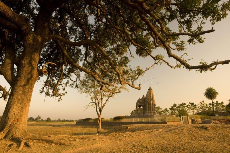 Vieilles ruines de temple de l'Inde images stock