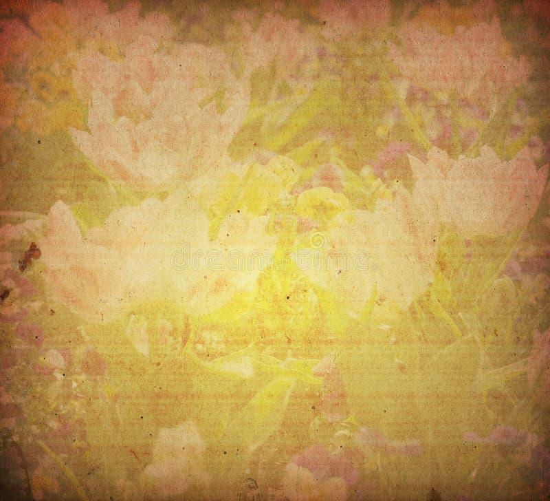 Vieilles textures de fleur de papier photographie stock