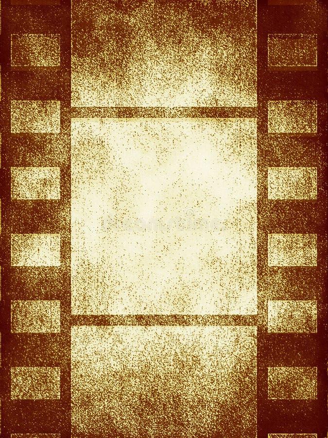 Vieilles trames de film illustration stock