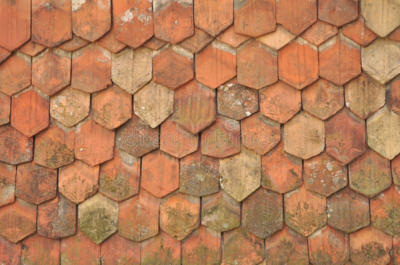 Vieilles tuiles de toit image libre de droits