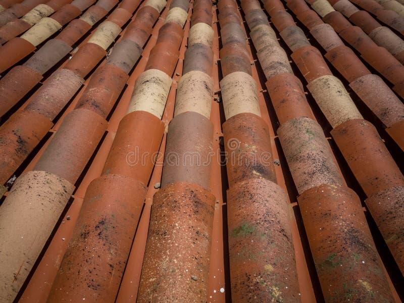 Vieilles tuiles de toit photo libre de droits