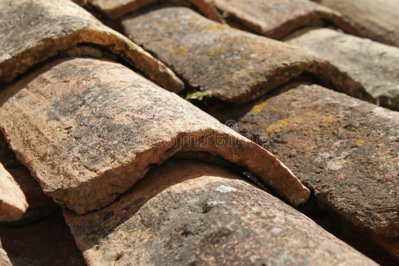 Vieilles tuiles de toit d'argile de Dubrovnik photographie stock