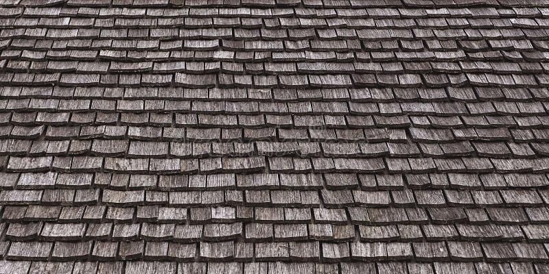 Vieilles tuiles de toit en bois comme fond grunge image stock