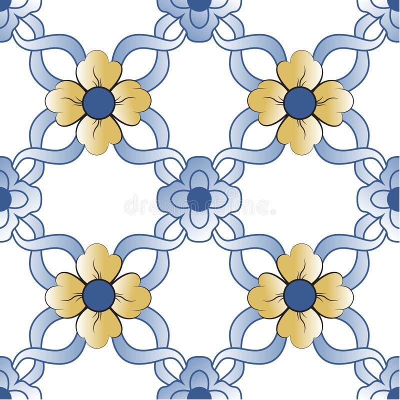 Vieilles tuiles florales illustration libre de droits