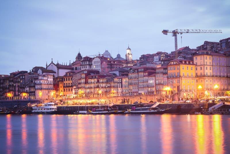 Vieilles ville de Porto et rivière de Douro, Portugal images stock
