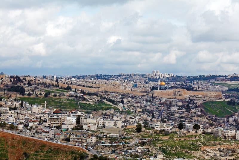 Vieilles ville et Esplanade des mosquées de Jérusalem photos stock