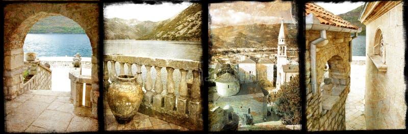 Vieilles villes de l'Adriatique photographie stock libre de droits
