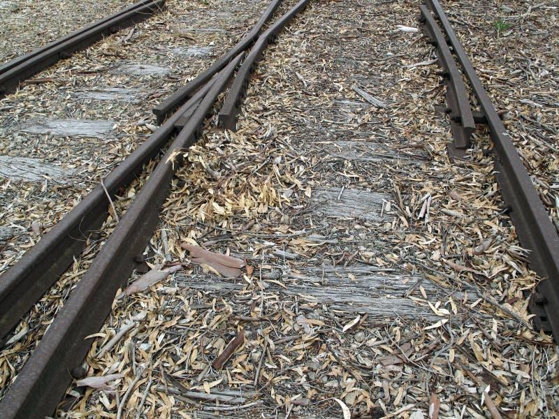 Vieilles voies de chemin de fer photos libres de droits