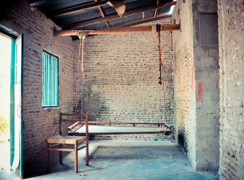 Vieja área de sentada de la casa imagen de archivo libre de regalías