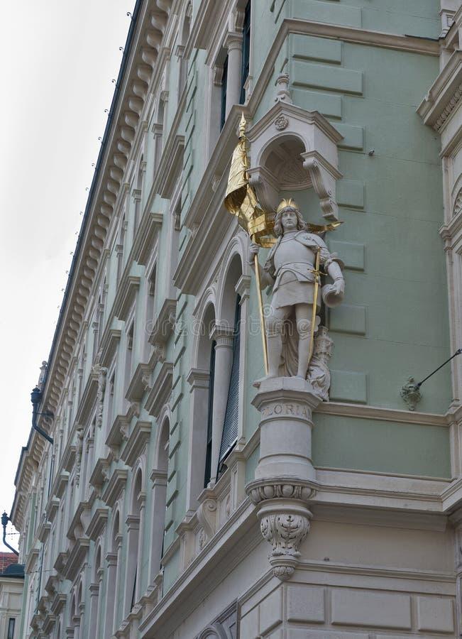 Vieja arquitectura de la ciudad en Graz, Estiria, Austria imágenes de archivo libres de regalías