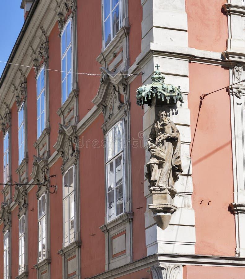 Vieja arquitectura de la ciudad en Graz, Estiria, Austria fotografía de archivo
