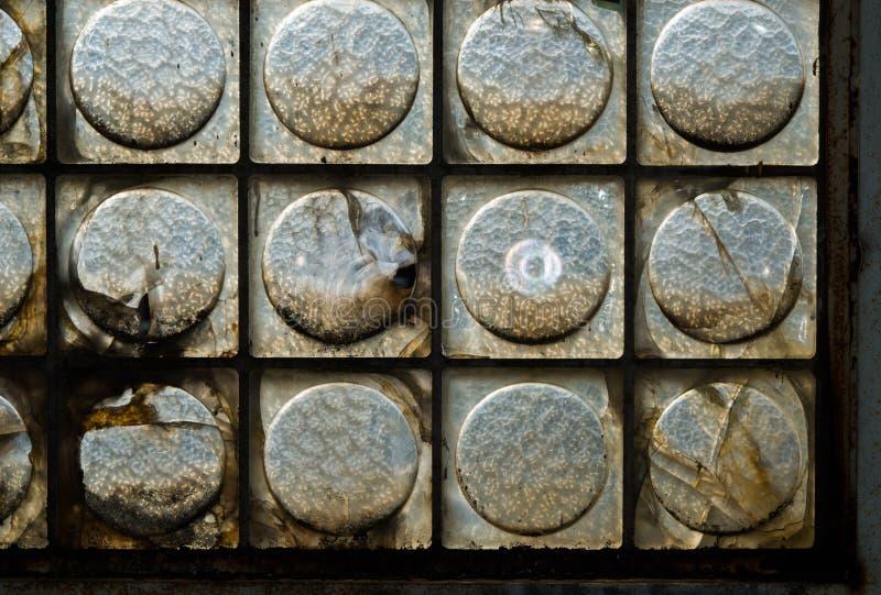 Vieja arquitectura del ladrillo de cristal imagen de archivo
