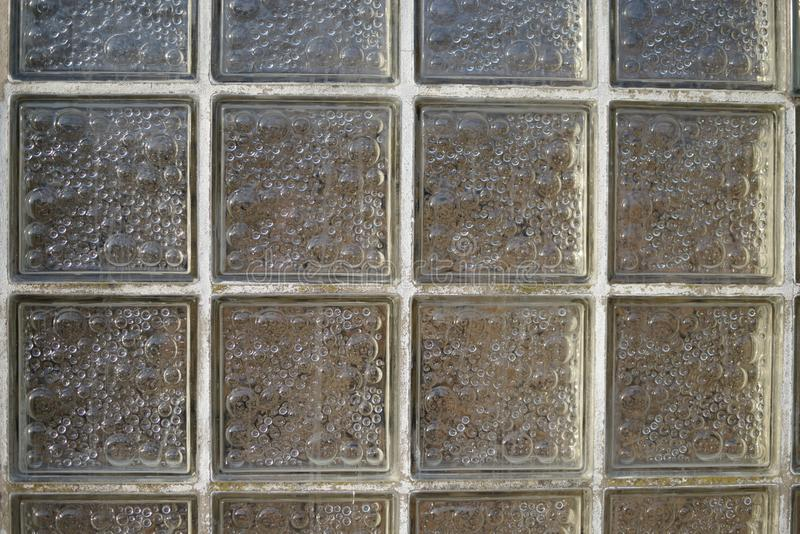Vieja arquitectura del ladrillo de cristal fotos de archivo libres de regalías