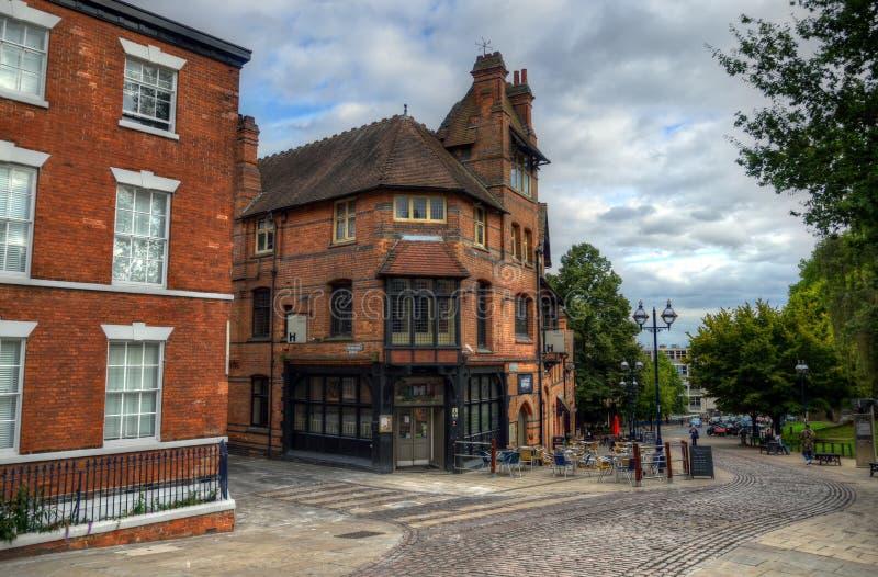 Vieja arquitectura en Nottingham, Inglaterra imágenes de archivo libres de regalías