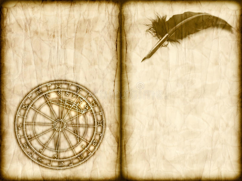 Vieja astrología imágenes de archivo libres de regalías