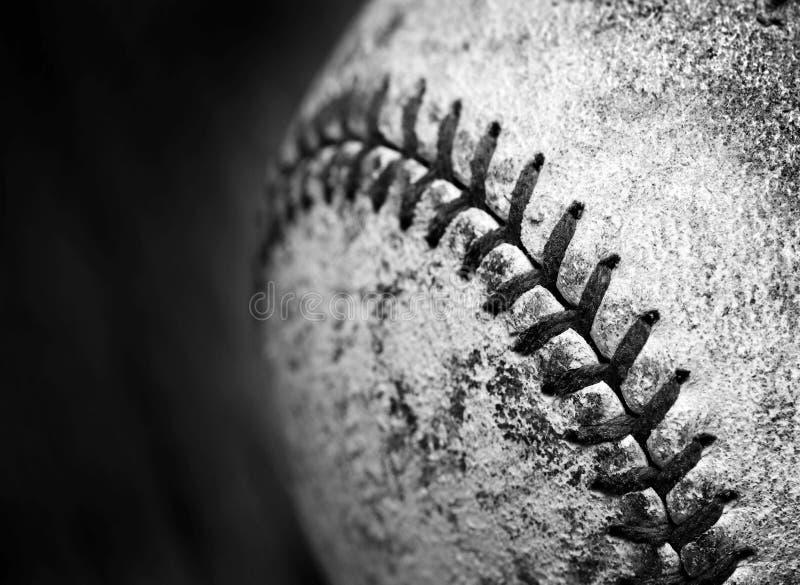 Vieja competencia de deportes gastada del juego del cuero de la textura del béisbol fotos de archivo