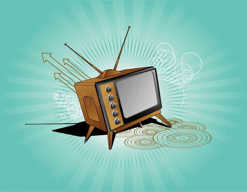 Vieja composición del vector de la TV ilustración del vector