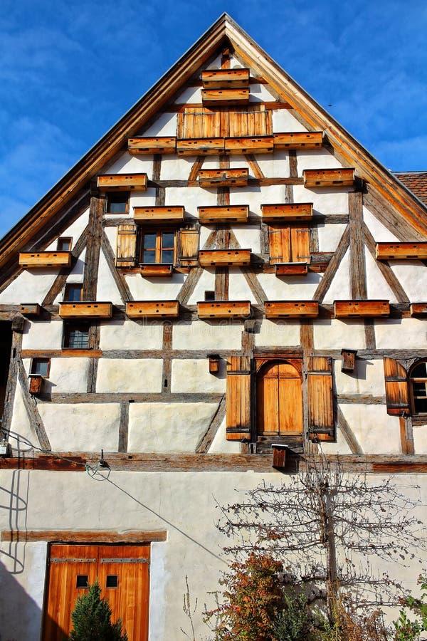 Vieja construcción de Fachwerkhaus única fotos de archivo libres de regalías
