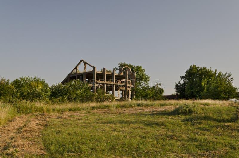 Vieja construcción dilapidada fotografía de archivo
