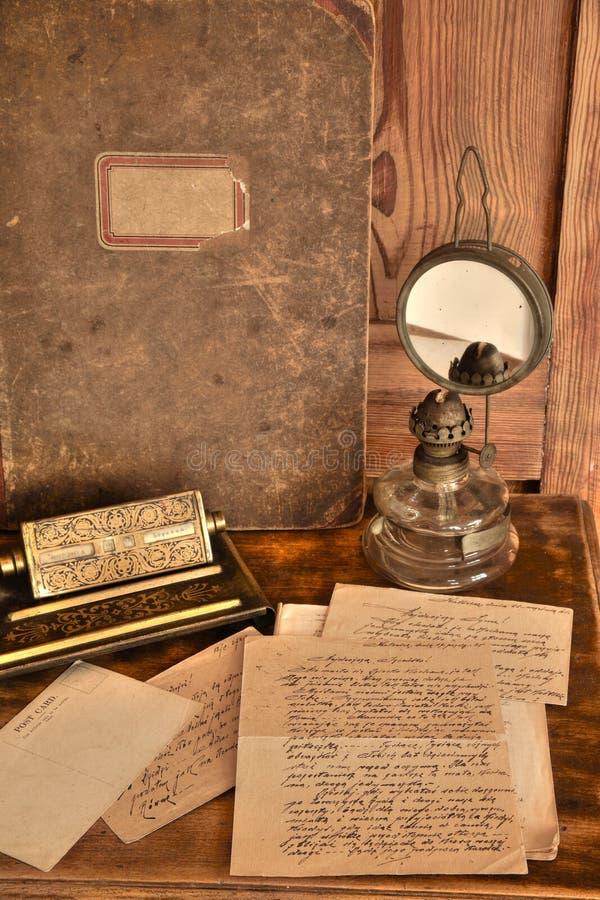 Vieja correspondencia fotos de archivo libres de regalías