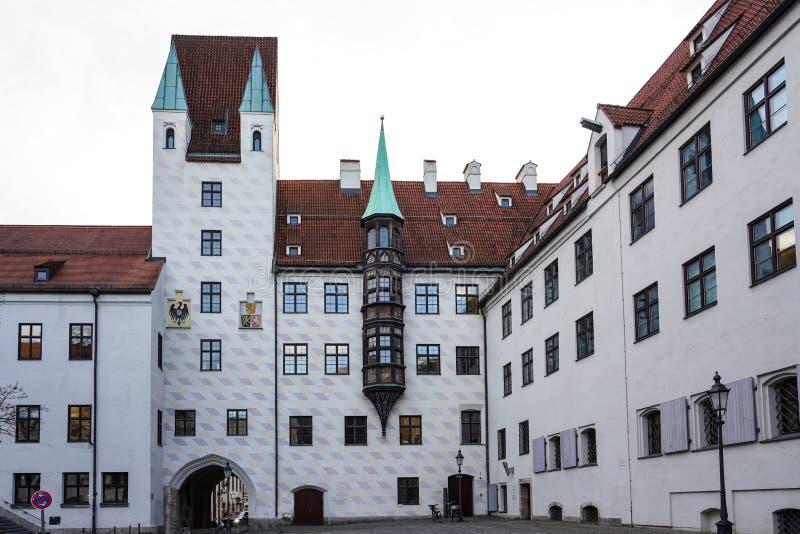 Vieja corte en Munich, Alemania Residencia anterior de Louis IV fotos de archivo