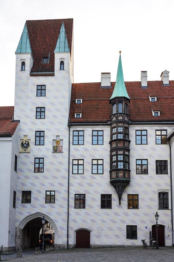 Vieja corte en Munich, Alemania Residencia anterior de Louis IV imagen de archivo