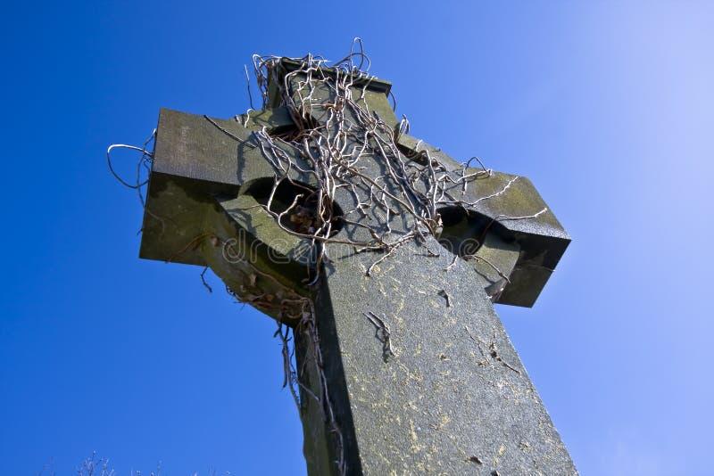 Vieja cruz céltica en Belfast fotografía de archivo libre de regalías