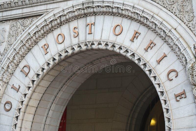Vieja entrada del arco de la oficina de correos Washington DC June 2006 foto de archivo