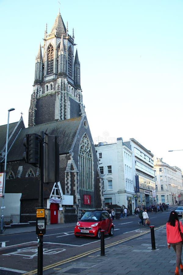 Vieja escena de la iglesia fotografía de archivo
