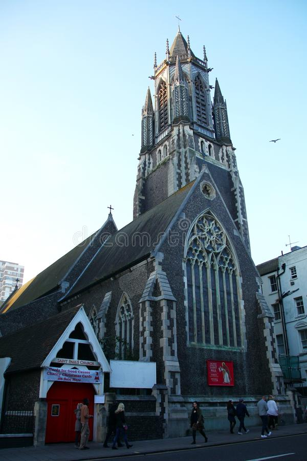 Vieja escena de la iglesia imagen de archivo
