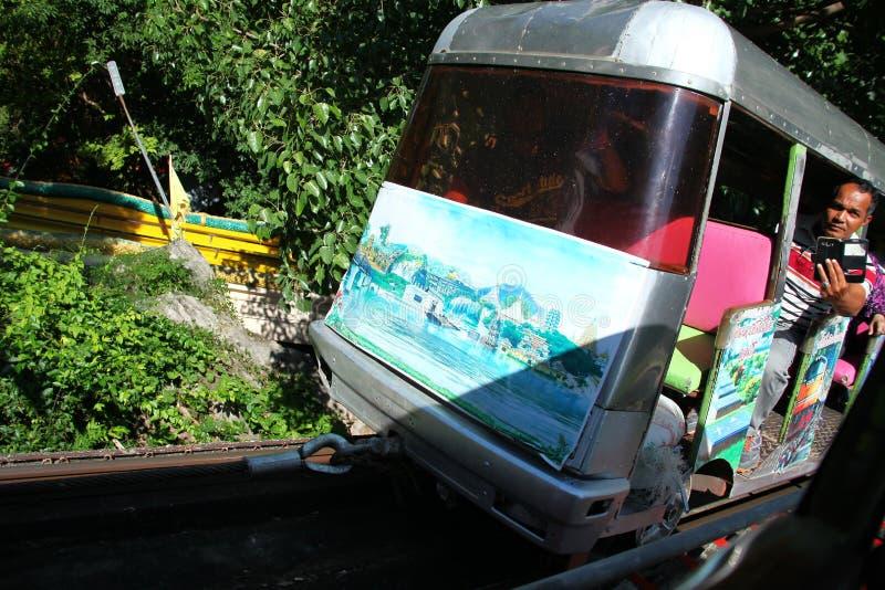 Vieja escena del teleférico fotos de archivo