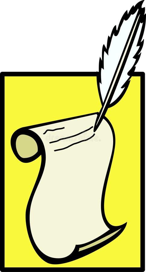 Vieja escritura de la manera libre illustration
