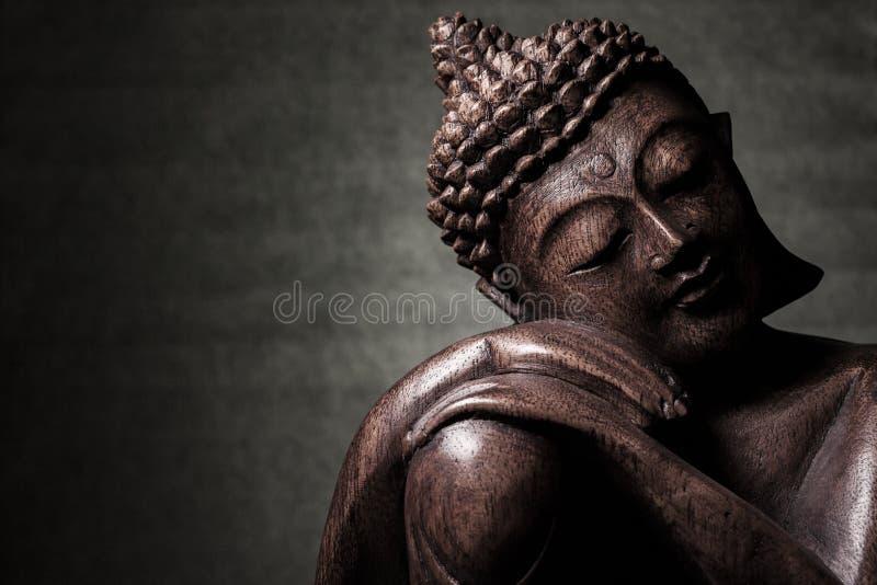Vieja escultura principal foto de archivo
