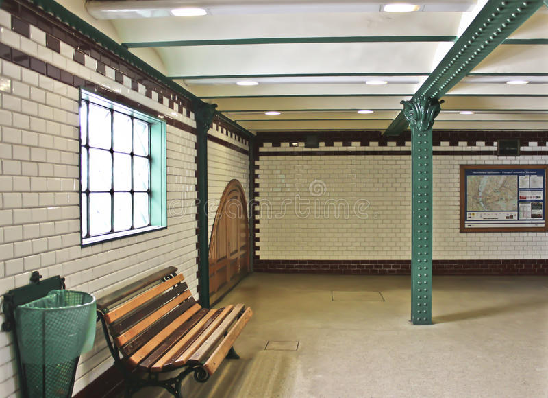 Vieja estación de tren en Budapest fotos de archivo libres de regalías