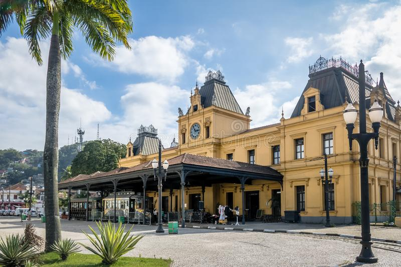 Vieja estación de tren de Valongo - Santos, Sao Paulo, el Brasil foto de archivo