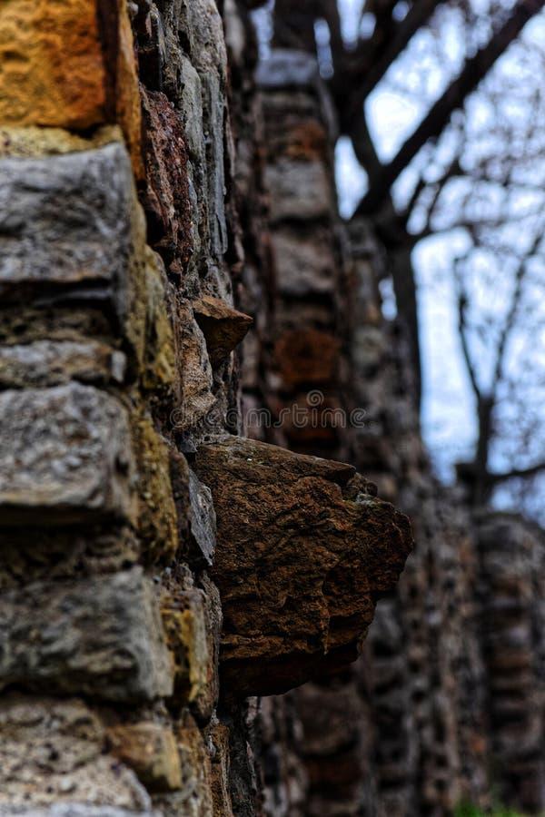 Vieja historia de la pared conmemorativa imagen de archivo